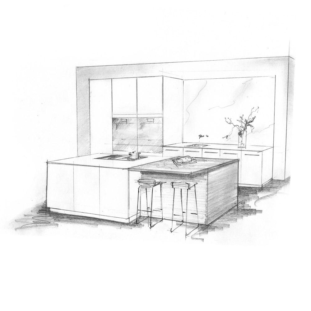 Küchenstudio Arbon Beispielbild Küchenplanung